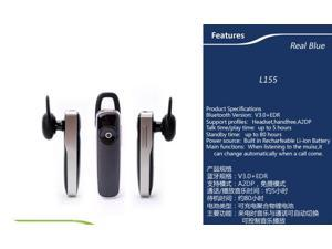 Ultralight Wireless Bluetooth Headset - Compatible with iPhone, Android, and Other Leading Smartphones - Black