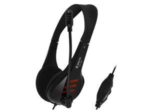 Professional Over Ear Stereo Headset with Microphone, Headset Splitter