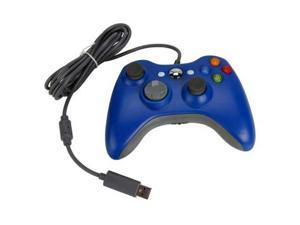 Wired USB Game Pad Controller for Microsoft Xbox 360 PC Windows 7 Blue