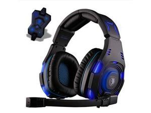 New Sades SA-907 Stereo 7.1 Surround Professional Headset Pro Games Headphones Black