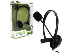 New Komodo Live Gaming Headset with Mic for XBOX 360 BLACK