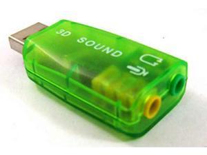 Black External USB 2.0 to 3D Virtual Audio Sound Card Adapter Converter 5.1 CH