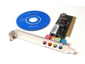 4 Channel 5.1 Surround 3D PCI Sound Audio Card CD New