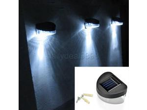 NEW! Outdoor Solar Powered LED Path Wall Landscape Mount Garden Fence Light Lamp