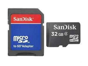 Sandisk 32GB 32G microSDHC Class 4 microSD micro SD SDHC 32 G Flash Memory Card C4 TF Bulk with Adapter and one Multifunction Memory Card Protective Case - OEM - Pack of 10