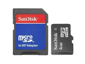 New Sandisk 4GB Class 4 MicroSD MicroSDHC SD SDHC Flash Memory Card With Adapter