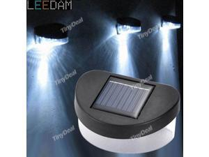 US Outdoor Solar Powered LED Path Wall Landscape Mount Garden Fence Light Lamp