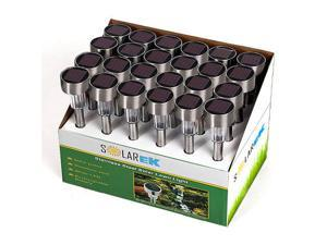 Solar Lawn Garden Lights 24 Pack Solarek Stainless Steel Quality Outdoor