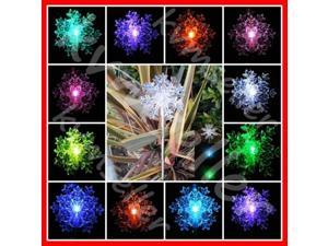 Solar Powered Snowflakes 3D Garden Yard Stake Color Changing LED Light