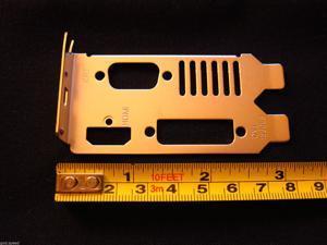 HOT nVIDIA GeForce AMD ATI Radeon HD Dual Slot Low Profile Half Height Size Bracket