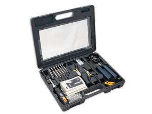 NEW 50 Piece Computer Network Installation Tool Kit with Multi-Module Cable Test
