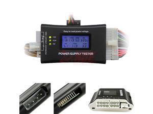 HOT PC Computer LCD 20/24 Pin 4 PSU ATX BTX ITX SATA HDD Digital Power Supply Tester