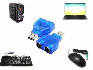 New USB to PS/2 PS2 Cable Keyboard Mouse Adapter Converter for PC Laptop