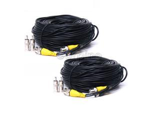 (2) 150ft BNC CCTV Video Power Cable Surveillance Security Camera DVR Wire mb9