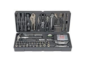 Home Repair Tool Kit Case 130 pc Steel Mechanic Office Auto DIY Texas Tool Store--household tool kit