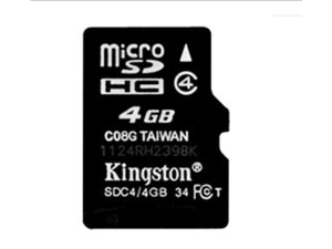 1 pack 4GB  4G Original Kingston microSDHC Card Class 4 TF C4 Flash Memory Card for mobile phones, smartphones, tablets and other portable devices