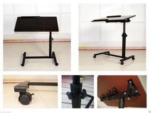 Portable Laptop Notebook Rolling N-ew Black Walnut   Table Cart TV Stand Tiltable MDF+PVC finish  Table top Desk New