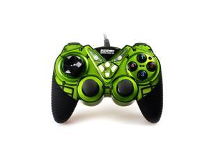 Wired USB Gamepad Double Shock Game Controller Joypad for PC Computer --Green