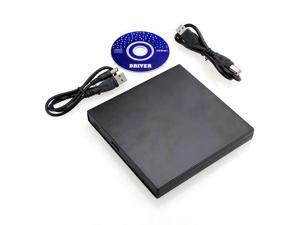 New Portable Slim Super External USB Optical 24x CD-ROM Drive For Laptop Desktop PC CD-RW CD-R VCD CD not suitable for DVD and blue ray