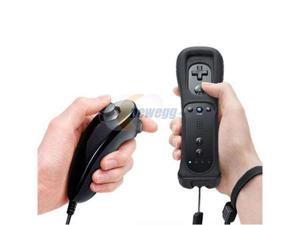 Black Wii Remote+Nunchuk Controller for Nintendo Wii + Case