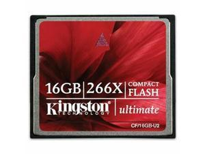 Kingston Ultimate 16GB/32GB/64GB Compact Flash (CF) 266X Flash Card Model CF/U2