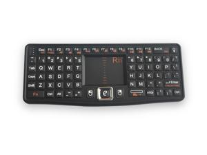 2.4GHz Wireless Rii N7 Mini Keyboard Touchpad Backlight for Smart TV/PC
