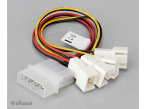 Akasa  AK-CB001 4-pin Molex to 4 x 3-pin Fan Socket Adaptor Cable