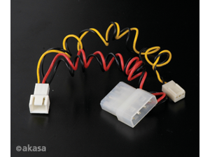 Akasa Fan Cable Converter from 3-pin to 4-pin Akasa C-CABLE-ADPT