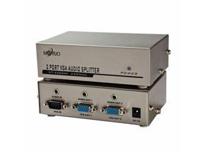 New MT-3502AV 2 Port VGA and Audio Splitter 350mhz 1920*1440max