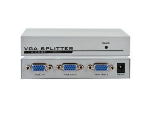 150MHz 1 PC to 2 Port VGA/SVGA Video Monitor Splitter Box