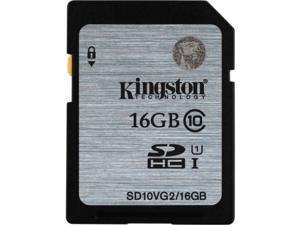 Kingston 16G Secure Digital High-Capacity (SDHC/SDXC) Flash Card Model SD10V - Pack of 5
