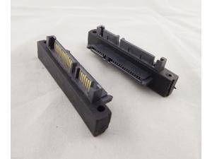 Premium SATA (7+15 Pin) 22Pin Male to SAS Female Jack Angled Adapter