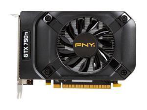 PNY VCGGTX750T2XPB-OC GeForce GTX 750 Ti 2GB 128-Bit GDDR5 PCI Express 3.0 x16 640 CUDA Cores Video Graphics Card