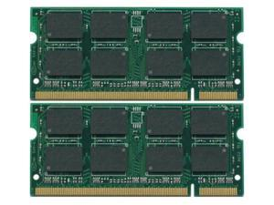 2GB Kit (2*1GB) DDR2 200-Pin SODIMM Laptop Unbuffered NON-ECC RAM Memory for Dell Inspiron 6400