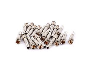 10pcs Spring End Solderless BNC Male Jack Plug Connector Adapter