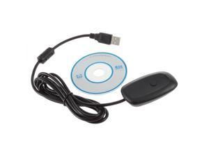 Black Wireless Gaming USB Adapter Receiver for Microsoft XBOX 360 PC Controller