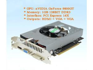 NVIDIA GeForce 9800GT 1GB DDR3 PCI Express graphics card