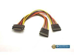 New SATA 15 Pin Y Splitter 5 Wire SATA Power  6 inches Cable