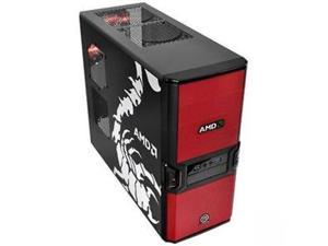 Thermaltake V3 Black AMD Edition System Cabinet - Mid-tower - Black - Steel -- Computer Case