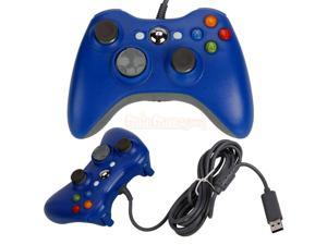 Wired USB Game Pad Wired  Blue/black Controller for Microsoft Xbox 360 PC Windows 7