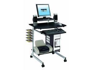Mobile Portable Laptop Computer Rolling Cart Stand  N-ew Graphite Table Storage Desk