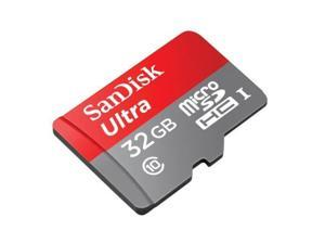 SanDisk 32GB Micro SD SDHC MicroSD TF Class 10 32G 32 GB Mobile Ultra 80MB/s with Two TF SD Card Reader Adapter for MacBook Air/Pro - Pack of 2