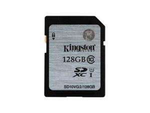 Kingston 128GB 128G SDXC SD 45MB/s UHS-I U1 C10 SD10VG2  full HD memory card - Pack of 2