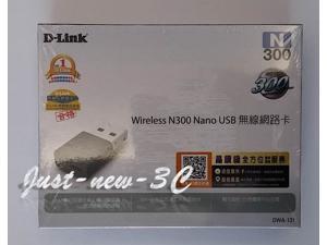D-Link DWA-131 NEW N 300 Wireless Nano USB Adapter