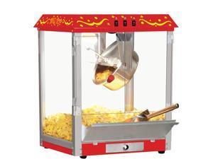 Big Top Carnival Style 8 OZ Classic Electric Popcorn Machine with Bonus Accessories