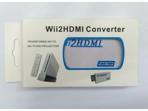 New White Wii to HDMI Wii2HDMI Adapter Converter Full HD 1080P Output Upscaling + 3.5mm Audio Box