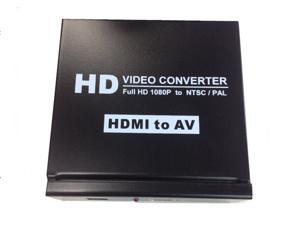 HDMI to RCA Composite AV Audio Converter Full HD 1080P to NTSC/PAL for TV/PC/PS3/Blue-Ray DVD