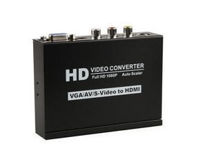 VGA AV S-Video Audio to HDMI Converter Box HDTV HD 1080P Video Adapter Scaler