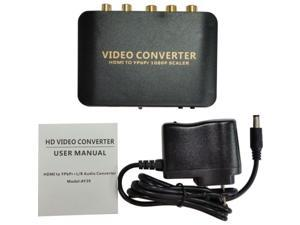 HDMI to 1080P Component Video Scaler Converter YPbPr Supporting R/L Audio Output