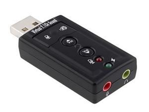 USB Sound Card With Virtual 7.1 Channel Surround Sound